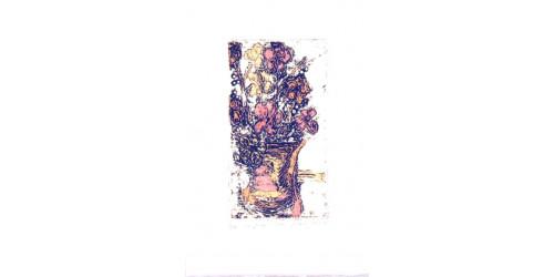 Collagraphie et encre acrylique